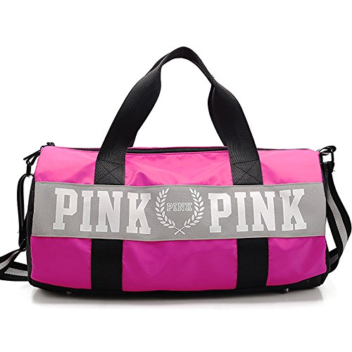 Gym Bag – Waterproof Sport Duffle Bag 20-Inch (Pink)