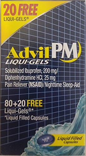 Advil PM Liqui-Gels 80 + 20 (Total of