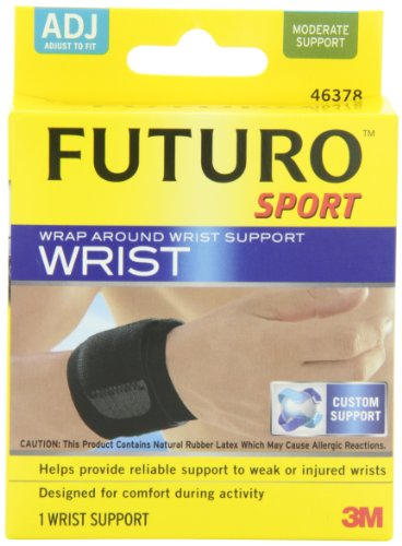 Futuro Wrap Around - Futuro Sport Wrap Around Wrist Support, Moderate Support, Adjust to Fit