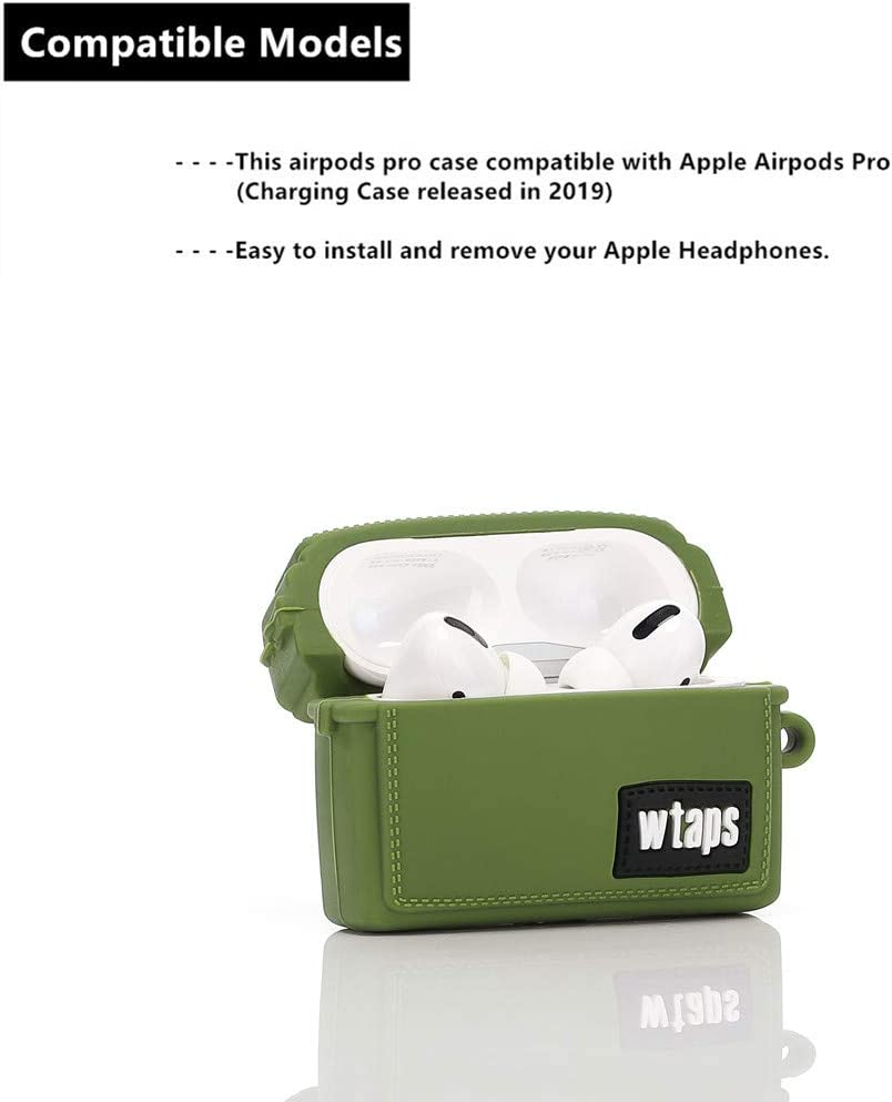 Designed for Kids Girl and Boys Army Green 3D Cartoon Pattern ZAHIUS Airpods Pro Silicone Case Funny Cute Cover Compatible for Apple Airpods Pro Tooling