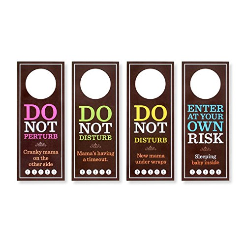 Egg2Cake Do Not Perturb Door Hangers (Set/4) by Egg2Cake