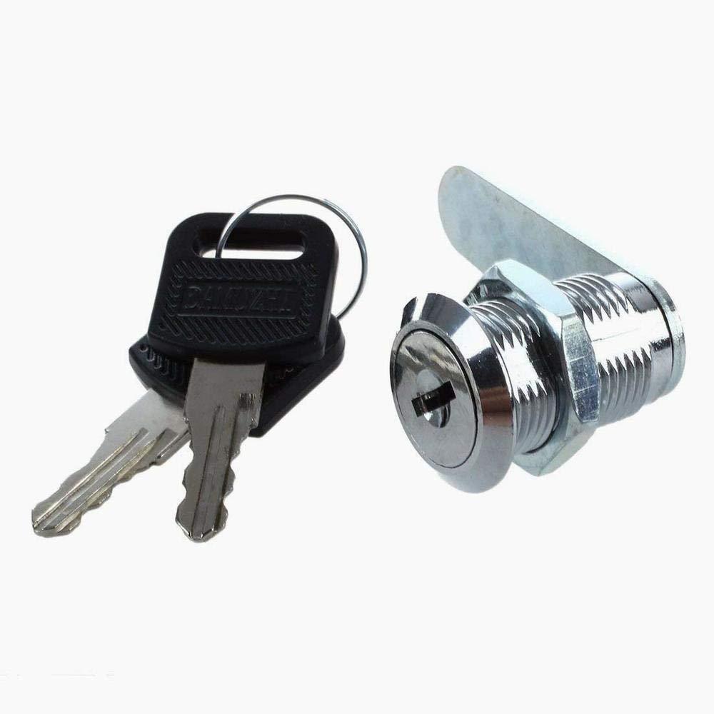 Hilai Cam Lock for Door Cabinet Mailbox Drawer Cupboard 25mm + Keys