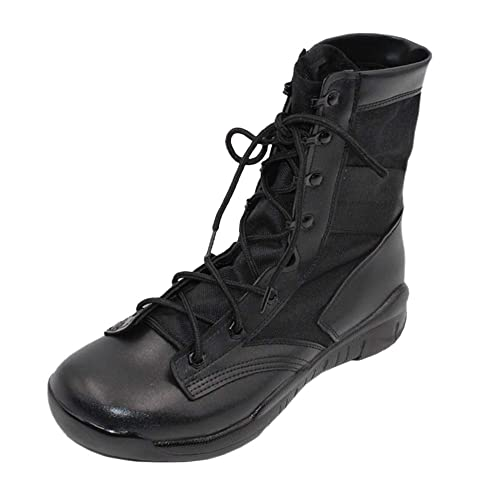 Huatime Zapatos para Hombre Calzado de Trabajo Botas de Servicio Militar - Combate Botas Hombres Tobillo Táctico Plataforma Cuero Al Aire Libre Botines ...