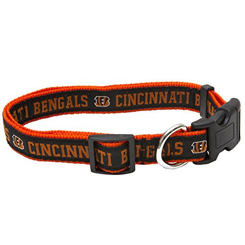 Pets First NFL Cincinnati Bengals Pet Collar, Large