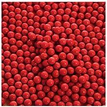 O'Creme Red Edible Sugar Pearls (6mm, 16 Oz)