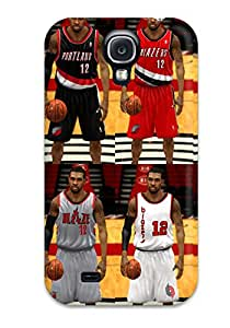 DanRobertse Scratch-free Phone Case For Galaxy S4- Retail Packaging - Portland Trail Blazers Nba Basketball (2)