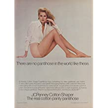 There are no pantyhose like these JCPenney Cotton Shaper ad 1979 FC
