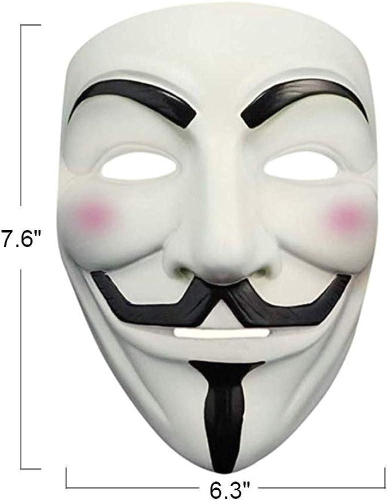Amazon Com Phantom K Adult Teen White V Vendetta Face Mask For