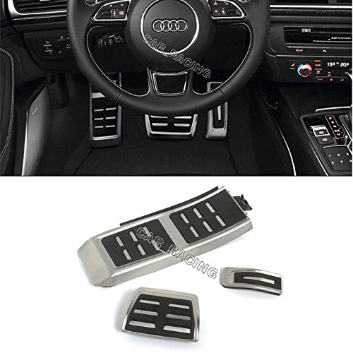 - WANWU DSG Gas Brake Foot Pedal Cover For AUDI A4 S4 A5 A6 S6 Q5 S5 RS5 A7(AT 3PC)