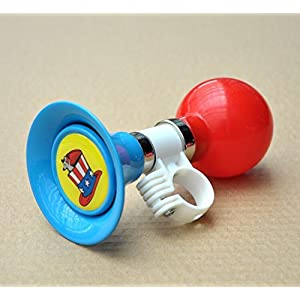 AISHEMI Kids Air Horn Metal Bell for Children's Bicycle Trikes Scooters and Balance Bike Blue
