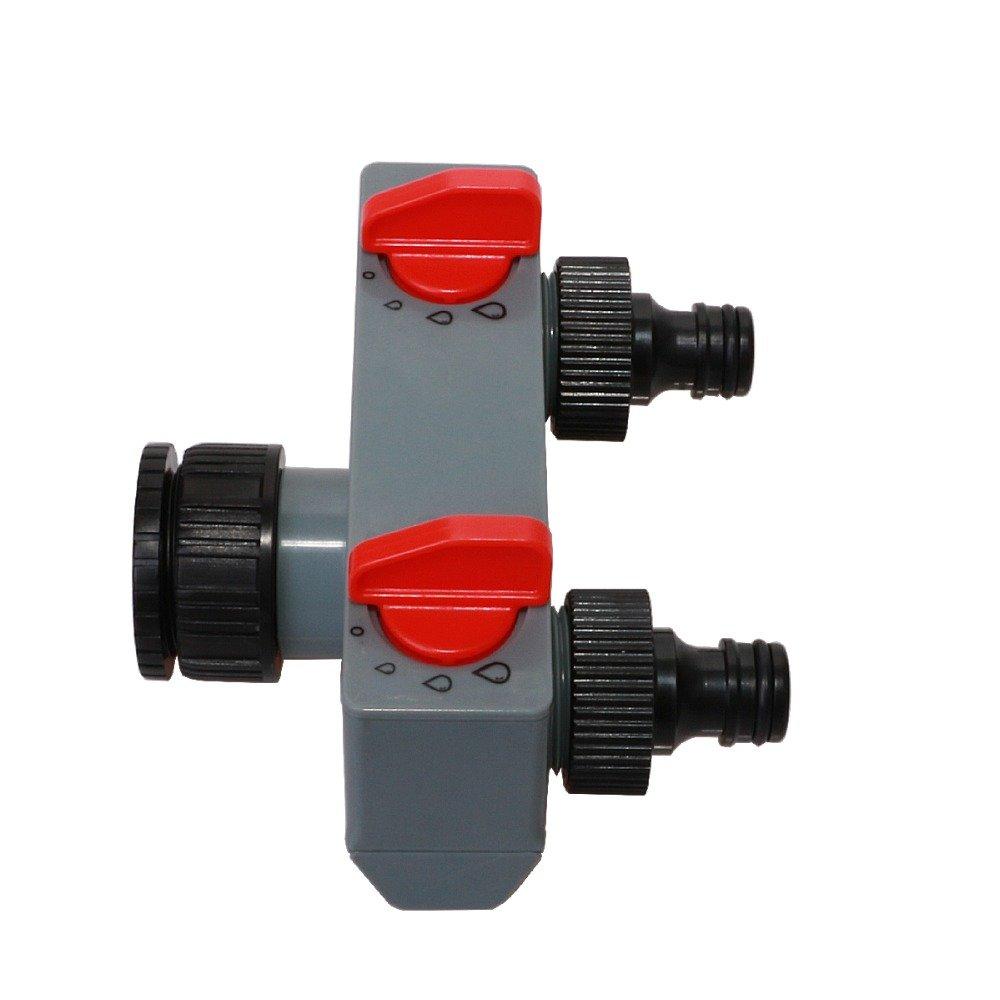 Labu Store Plastic Garden Hose Pipe Splitter Water Connector 2 Way Tap Irrigation