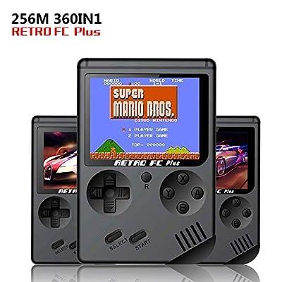 O RLY Retro FC Plus Consola de Juegos Portátil, 3 Pulgadas Screen 360 Juegos Retro Classic Mini Gameboy