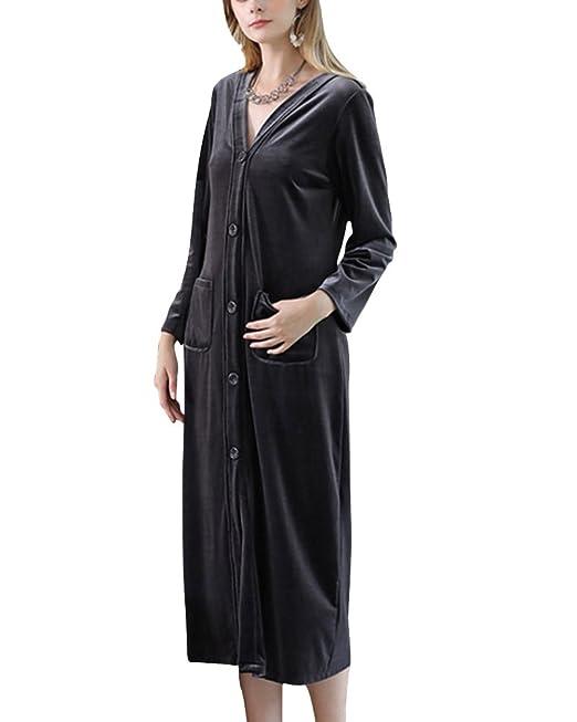 V Albornoz para Mujer Mañana Vestido Pijama Batas Kimonos Baño Casa: Amazon.es: Ropa y accesorios
