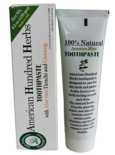 American Hundred Herbs Toothpaste With Aloe Vera, Tienchi and Ginseng by American Packing & ()
