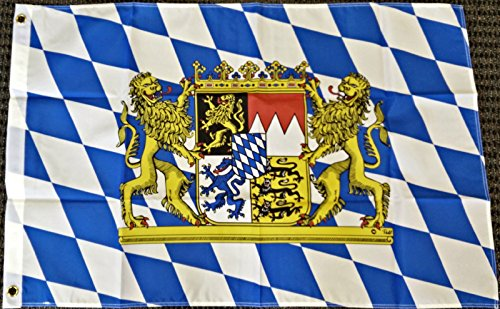 Bavaria Flag (2x3 Bavaria Germany with Lions Bavarian German Oktoberfest Octoberfest Flag New)