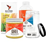 Bulletproof - Grass-Fed Ghee, (13.5 oz), Brain Octane Oil, Reliable and Quick Source of Energy (16 Ounce), The Mentalist Dark Roast Ground Coffee (12 oz) + Bonus UBEN Refillable Plastic Container