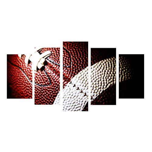 Canvas Painting Printed 5 Pieces American Football Wall Art Canvas Pictures For Living Room Bedroom Modular Home Decor No Framed