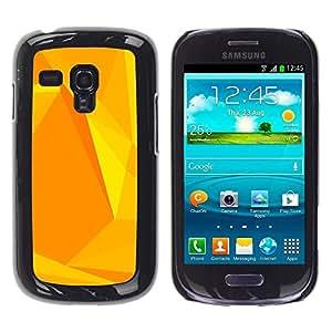 Jordan Colourful Shop - Yellow Polygon Pattern Honey For Samsung Galaxy S3 MINI 8190 Personalizado negro cubierta de la caja de pl????stico