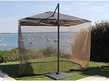 PERAGASHOP Mosquitera Protectora para sombrilla, 3 x 3 m, Accesorios de decoración para jardín: Amazon.es: Jardín