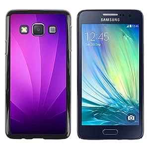 Caucho caso de Shell duro de la cubierta de accesorios de protección BY RAYDREAMMM - Samsung Galaxy A3 - Remolinos púrpuras
