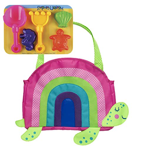 Stephen Joseph Turtle - Stephen Joseph Beach Totes with Sand Toy Play Set, Turtle