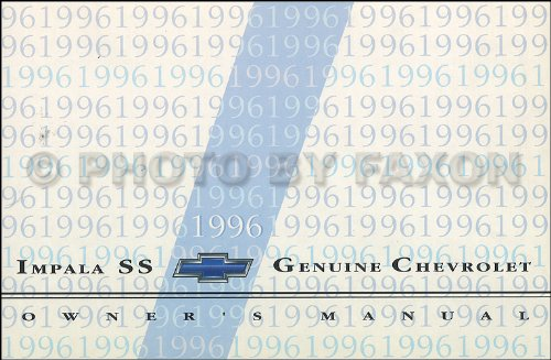 (1996 Chevy Impala SS Owner's Manual Original)