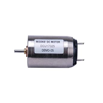 d1cd49b847 MOONS' Φ17mm Coreless Brushed DC Motor 3.4W 24V 0.21A up to 8250rpm 480rpm