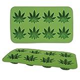 Marijuana Leaf Ice Cube Mold Tray | Silicone 8-Cube Tray (2 pack)
