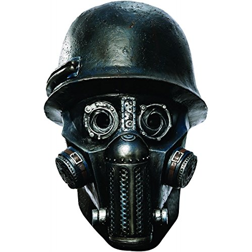 [Deluxe Gas Mask Zombie Sucker Punch Adult Mens Scary Halloween Costume Accessory] (Halloween Costume Ideas 2016 Men)