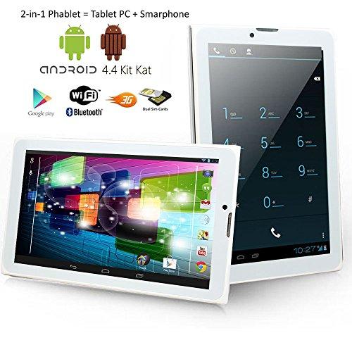 Indigi Ultra-Slim Unlocked 3G SmartPhone Phablet 7.0'' Android 4.4 Tablet PC by inDigi