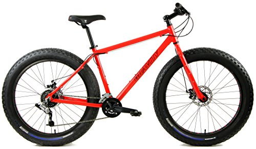 26 Inch Fat Bike Gravity Bullseye Monster 26In Wheel Disc Brake Bicycle  Orange  20In