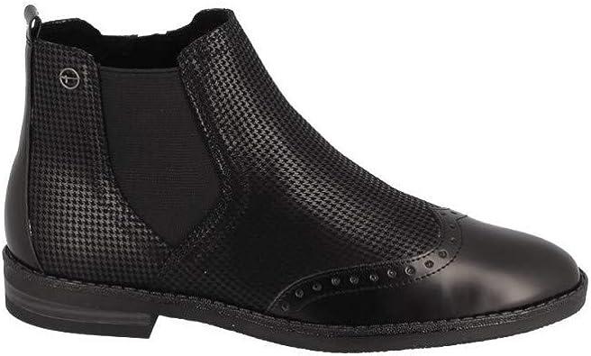Tamaris Bottine Plate Noir: : Chaussures et Sacs