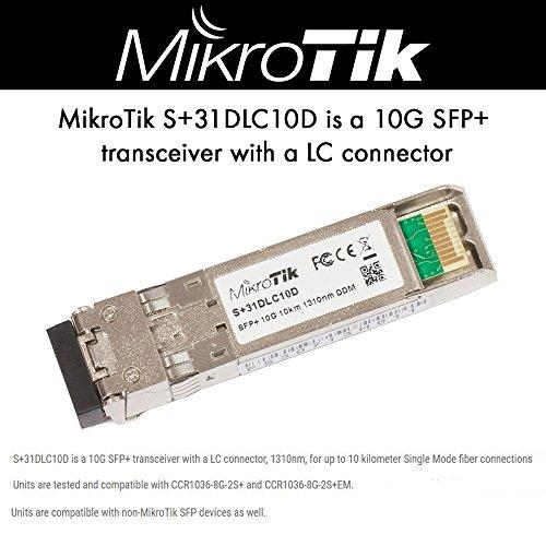 MikroTik S+31DLC10D, SFP+ 10G 10Km 1310nm DDM transceiver LC by Mikrotik