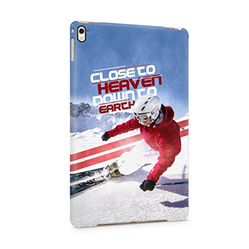 Pro Alpine Ski - Xtreme Alpine Mountain Ski Close To Heaven Sport Quote Plastic Tablet Snap On Back Case Cover Shell For iPad Pro 9.7