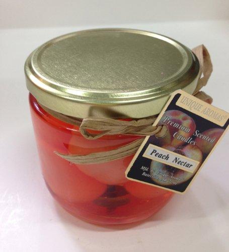 10 oz Peach Nectar Gel Candle- Fresh ripened peach (Fruit Gel Candle)