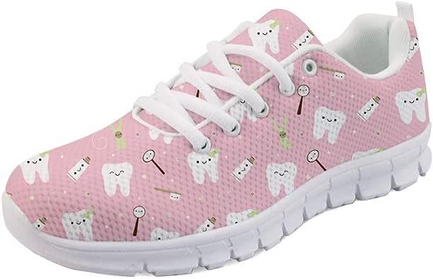 Hugs Idea - Zapatillas de Tenis de Malla elásticas para Mujer, Transpirables, ultraligeras, Color Rosa, Talla 43 EU: Amazon.es: Zapatos y complementos