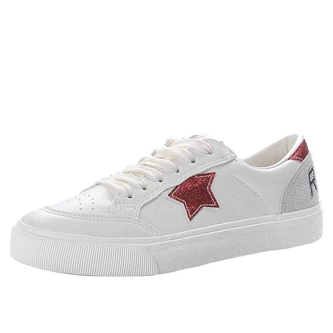 Zapatillas De Deporte De Diseño Para Mujer Zapatillas De Deporte Casuales Para Damas Zapatillas Blancas Tamaño Adecuado Para Escuelas Tiendas Excursiones: ...