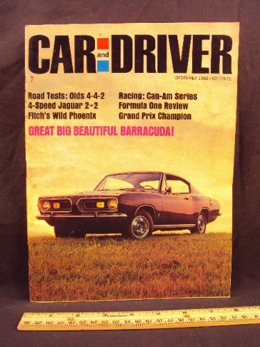 1966 66 December CAR AND DRIVER Magazine (Features: Road Test on Plymouth Barracuda Formula S, Jaguar XK-E 2+2, & Oldsmobile 4-4-2, + Jack Brabham, World Champion)