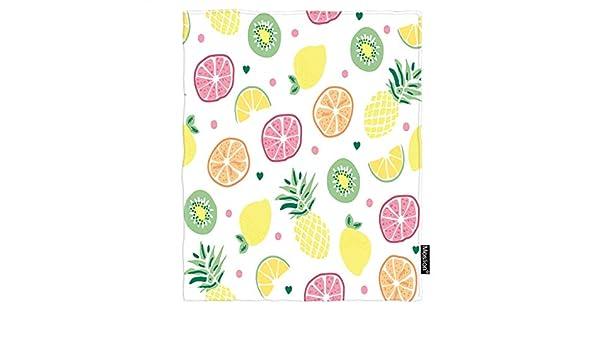 Moslion Manta de Verano con diseño Frutas y piñas, Color Naranja ...