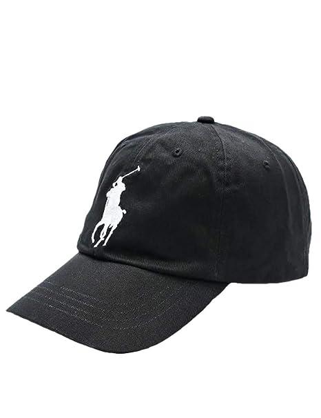 Ralph Lauren Gorra color negro Big pony - Talla única, Negro: Amazon.es: Ropa y accesorios