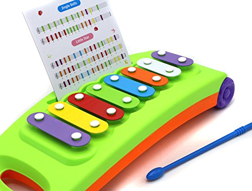 3 Octave Set (Verzabo Portable Rainbow-colored xylophone Keyboard Play Set – Includes An Octave Of Notes)