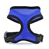 LUFA Pet Dog Safety Harness Easy Control Mesh Vest Leash Chest Straps Belt Blue & M