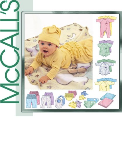 Hat Sewing Top Pattern - McCall's Pattern 3665. Baby Szs Nb; S; M; L, (Weight:8-21 Lb 8 Height:18-30