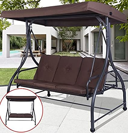 K&A Company Porch Swing Chair Canopy Patio Furniture Outdoor Seat Cushion  Hammock Bed Seats Cushioned Garden - Amazon.com : K&A Company Porch Swing Chair Canopy Patio Furniture