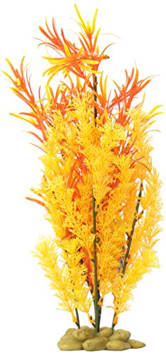 SPORN Aquarium Decoration, Hornwort Plant Orange/Red 15
