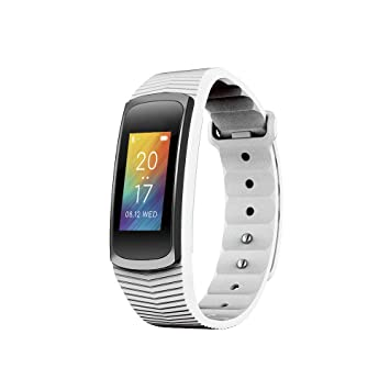 Bracelet connecté multi fonctions sport Abyx Fit bluetooth 4.0 podomètre blanc