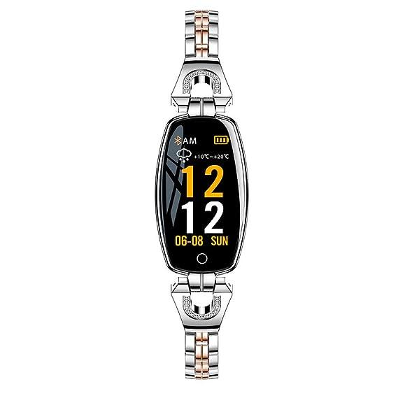 Amazon.com: 2018 Metal Smart Bracelet for Women Girls - Blood Pressure/Heart Rate Monitor Smart Bracelet Watch Pedometer Sport Fitness Tracker with Metal ...