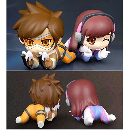 NEW Ow Overwatch Anime Cute Tracer D.va Dva PVC Figure 3D Model With Box