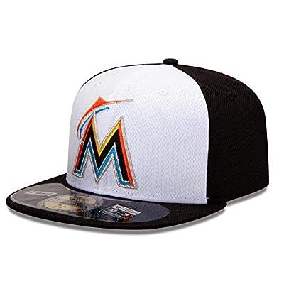 MLB Miami Marlins Batting Practice 59Fifty Baseball Cap, White/Black
