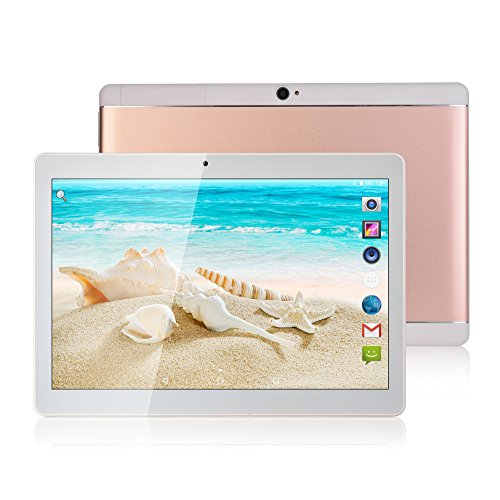 2017 News Bestenme 10 Inch Tablet Pc Android 7.0 Octa Core 64GB ROM 4G RAM Tablets Pc Dual sim card Phone Call Ips 3G GPRS WIFI 7 Rose Gold